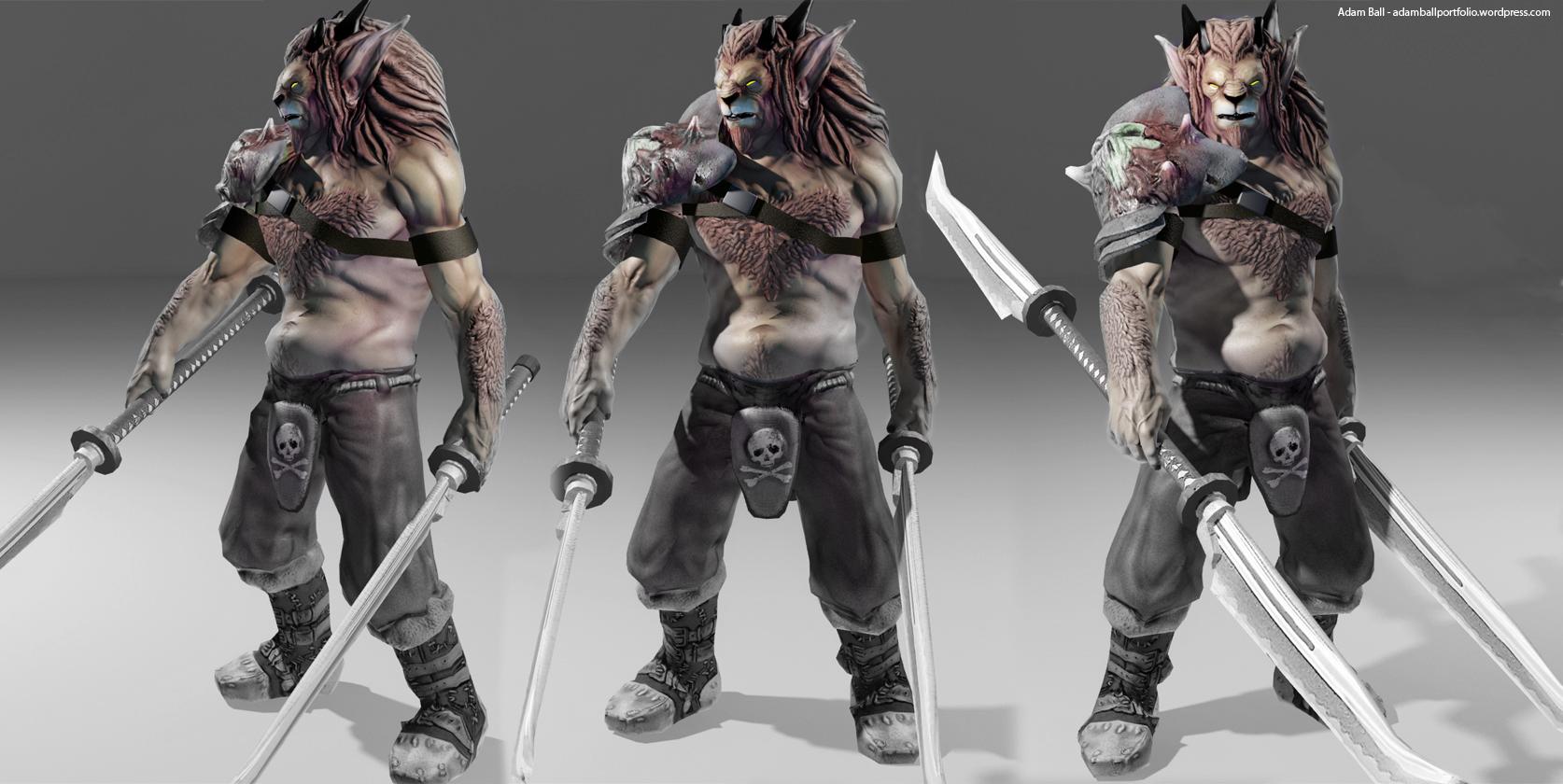 Deviantart Lion Warrior: Adam Ball's 3D Art Portfolio